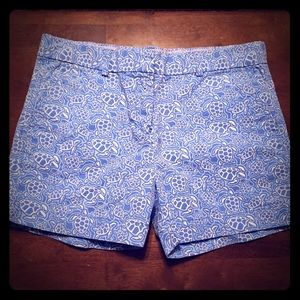 Vineyard Vines Girls Blue Turtle Shorts Size 12